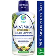 Tropical Oasis Men's 50+ Premium Multivitamin- Superfood & Anti-Aging Liquid Multivitamin for Men Over 50. 100+ Ingredients Support Healthy Muscles, Bones, Heart & Brain Functions* -1mo Supply