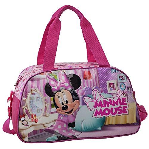Disney Minnie Sac de Voyage, 41 cm, 22,63 L, Rose