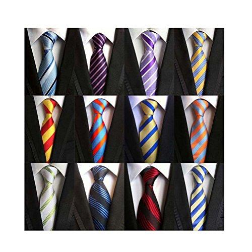 Weishang Lot 12 PCS Classic Men's 100% Silk Tie Necktie Woven JACQUARD Neck Ties (Style 2)