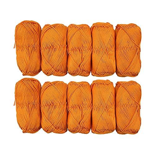 TRICOT CAFE' Offerta Gomitoli di Cotone Cotone Stock in Confezione da 10pz Made in Italy 100% Cotone/Arancio 7265
