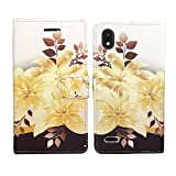 Wallet Pouch Card Holder Protective Case Phone Cover Case Phone Cover for ZTE Avid 559 + Gift Stand (Yellow Gold Lily)
