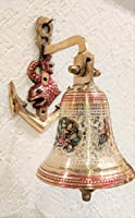 Akriti Brass Art Wares Anchor Bell/ Brass Bell/ Door Bell/ Temple Bell/ Bell for Gate Entrance Decoration Made in India