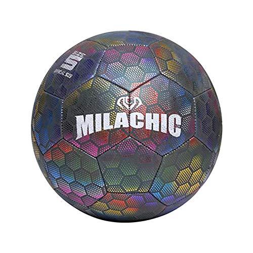 Leuchtball Kinder, Leuchtfussball Night Kick, Größe 4/5 Leuchten Reflektierender Fußball Trainingsfußball Für Kind/Erwachsener