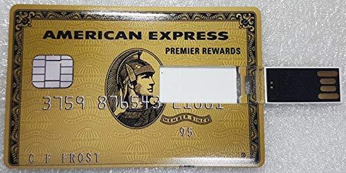 Pen Drive Credit Card USB-Carta DI CREDIDIT 8GB 16GB 32GB 64GB USB-Stick Memory USB2.0 AMEX ORO 32GB