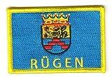 Flaggen Aufnäher Patch Insel Rügen Fahne Flagge