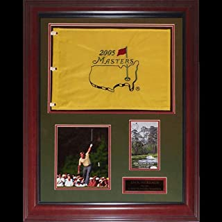 Jack Nicklaus Autographed Signed Auto 6-time Masters Champion Deluxe Framed Flag Piece JSA - Certified Authentic