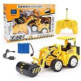 WGFGXQ Excavadora RC, Tractor de construcción, Excavadora de Control Remoto, 5 Canales, 2,4G, Excavadora de vehículos de construcción, electrónica, Juguetes de pasatiempo para niños, niños, niños