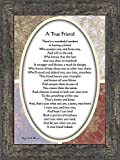 Vintage A True Friend, Poem About True Friendship, 7x9 77933BW