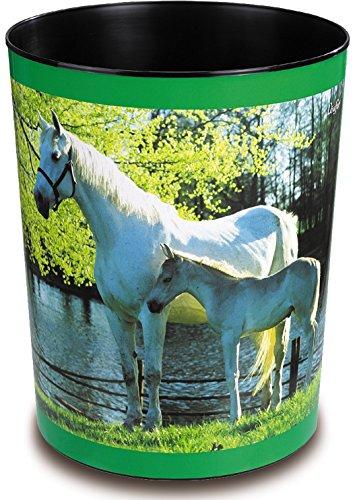 Läufer 26663 papieren mandje met motief, bonte hond, 13 liter vuilnisemmer, perfect voor de kinderkamer, rond Honden Paard en veulen aan zee