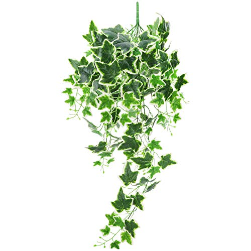 Artificial Ivy Leaf Garland Fake Plants Artificial Hanging Plants Hanging Vine Plant Leaves Garland Faux Greenery Artificial Greenery Garland UV Resistant Green Plants Office Home Decor Ivy 1 Bunch