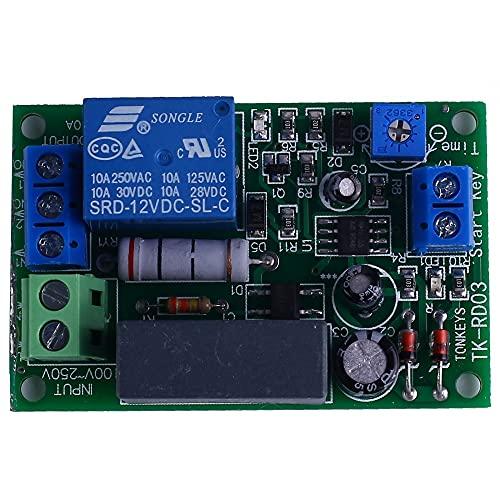 Módulo de relé de tiempo, 220 V Tipo de disparador Circuito de relé de retardo Relé de retardo ajustable Apagado automático temporizado