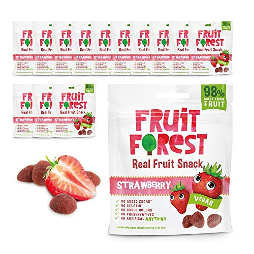 Fruit Forest Real Fruit Gummy Party Pack Of 14 Strawberry,...