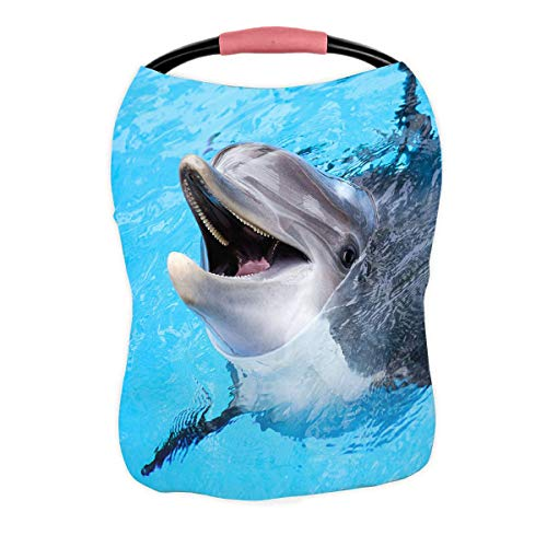 Lowest Prices! ABPHQTO Dolphin Nursing Cover Baby Breastfeeding Infant Feeding Cover Baby Car Seat C...