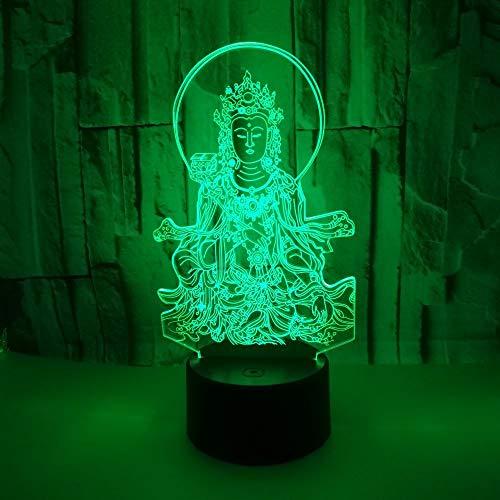 Estatua De Buda 3D Led Luz De La Noche Escritorio
