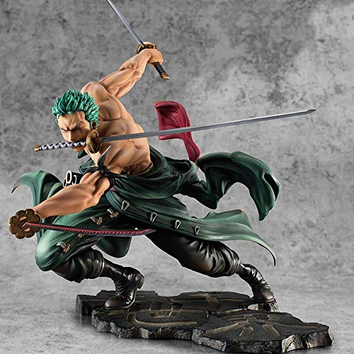 GUANGHHAO One Piece Roronoa Zoro Anime Figura 17.5cm-Three Thousand Worlds-Figurine Decoration Ornaments Collectibles Toy Animations Modelo de Personaje