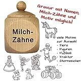 Milchzahndose mit Gravur - Zahndose mit Namen personalisiert - Baby Zahnbox für Milchzähne als Geschenke für Jungen und Mädchen von