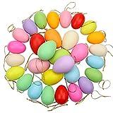 PIXHOTUL - Uova di Pasqua in plastica colorata, decorazioni decorative per albero di Pasqua da appendere, decorazione per la casa e la festa di Pasqua