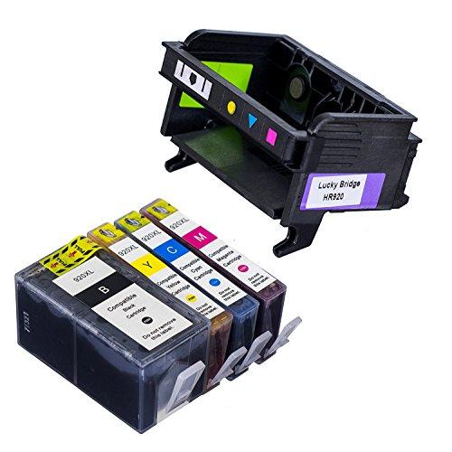 Lucky Brücke 1 PK HP920 Druckkopf und 1 Stück Tintenpatrone kompatibel für HP6000 6500 7000 7500 B010 B110 A B010B B109 B110 B209 B210 Drucker (Druckkopf und Patrone) -hp 920 Printhead