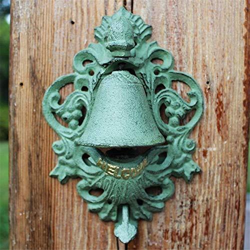Cast Iron Retro Door Bell Door Knocker, Vintage Cast Iron Raw Iron Door Knocker, Rustic Handle for Country Cottage Patio Courtyard Townhouse Manor Front Door Hardware Acces Decoration Cast Iron Doorb