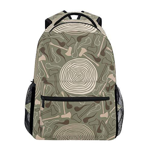 FANTAZIO Rucksäcke Axt und Tabakpfeife Schultasche Daypack