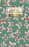 2021-2022 Monthly Pocket Planner: Cute French Bulldog Emoticon Two Year Calendar, Agenda, Diary | Funny Dog 2021-2022 Monthly Pocket Planner, Organizer with Vision Boards, To Do Lists, Notes, Holidays