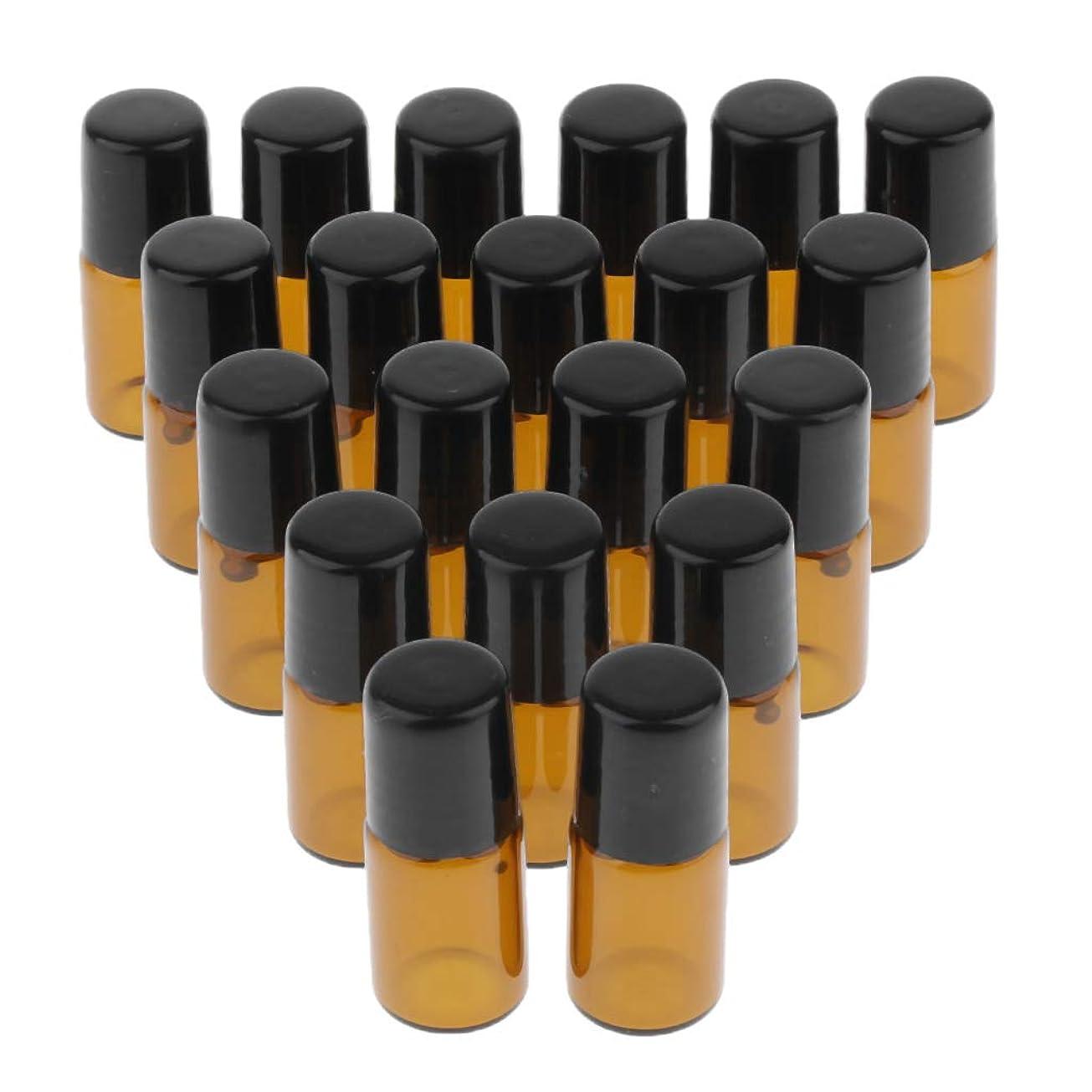 病な知覚するチャンスPerfeclan 20個 エッセンシャルオイルローラーボールボトル ガラスボトル 3サイズ選べ - 3ml