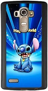 Lilo & Stitch LG G4 Case, Onelee [Neverfade] Lilo & Stitch LG G4 Case, Disney Movie Ohana LG G4 Case [Drop Protection] (Black TPU Soft Rubber Case)