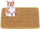 GZGZADMC - Tappetino da grattare per gatti, in sisal naturale, raschietto per gatti, giocattolo per la cura del gatto antiscivolo