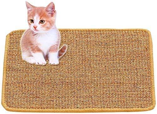 GZGZADMC - Alfombra rascador para gatos, sisal natural, rascador para gatos, juguete de cuidado para garras de gato, antideslizante para