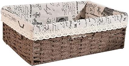 SKGOFGODcw Home Storage Bins Storage Basket, Rattan Strawt, Toy Snack Mask Storage Basket, Candy and Dried Fruit Storage B...