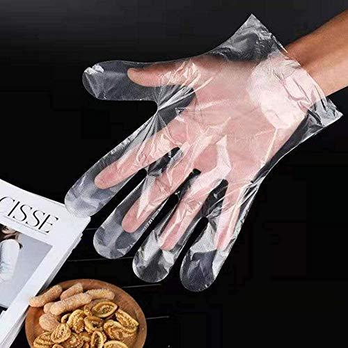 1000 piezas guantes desechables para cocina, gruesos, guantes de limpieza transparentes, antitáctiles, para cocinar, hornear, barbacoa, limpieza