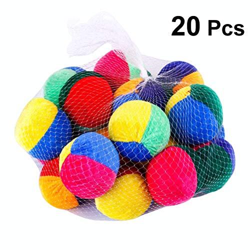 YeahiBaby 20pcs Jonglierbälle Jonglieren Sitzsack Spielzeug Indoor Outdoor Kinder Baby werfen Spielzeug (Zufällige Farbe)