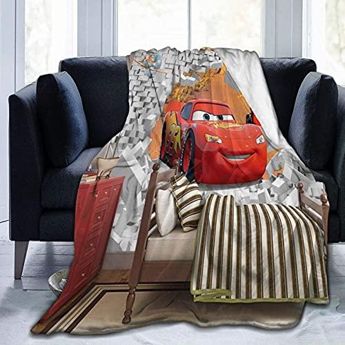 Cars Lightning Mcqueen - Manta infantil de 127 x 152 cm, sofá o cama en todas las estaciones