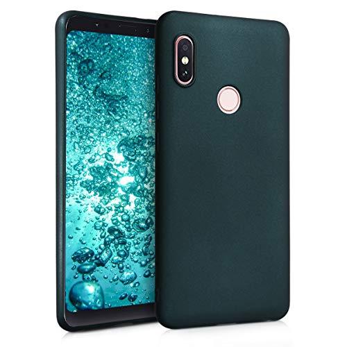 kwmobile Cover Compatibile con Xiaomi Redmi Note 5 (Global Version) / Note 5 PRO - Protezione Back Case Silicone TPU Effetto Metallizzato - Custodia Morbida Petrolio Metallizzato