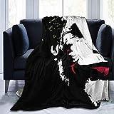 Gypsophila Clown Dark Knight Decke, super weich, Samt, warm, flauschig, pflegeleicht, für alle Jahreszeiten, Mehrfarbig., 50'x40'