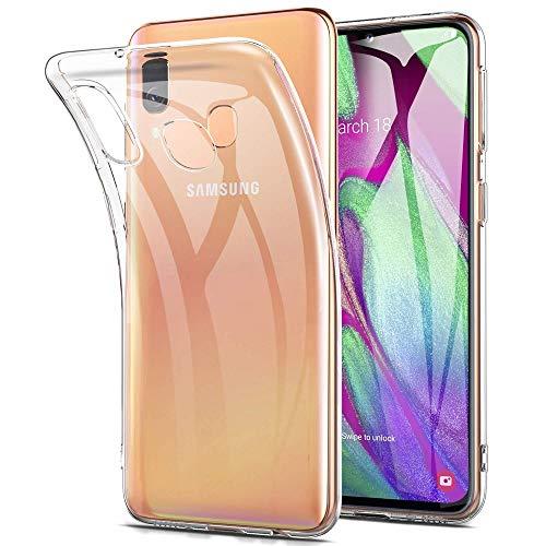 REY - Funda Carcasa Gel Transparente para Samsung Galaxy A40, Ultra Fina 0,33mm, Silicona TPU de Alta Resistencia y Flexibilidad