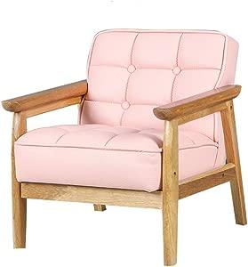 HFYAK Kids Mini Sofa Children  Soft Single Seater Wood Sofa Mini Kids Children  Kid for Bedroom Living Room-B 43x38x44cm  17x15x17inch
