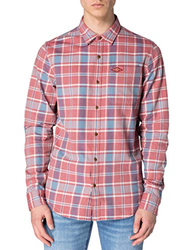 Superdry M4010340A Chemise à Boutons, Blush Red Check, XL Homme