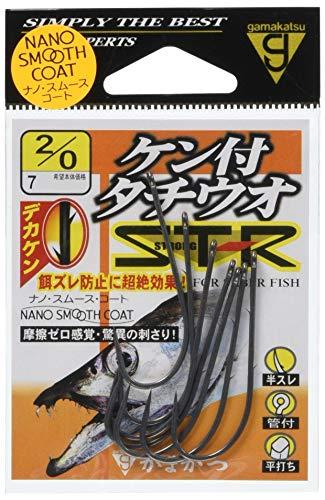 がまかつ(Gamakatsu) バラ ケン付タチウオ ST-R(ナノスムースコート) #2/0.