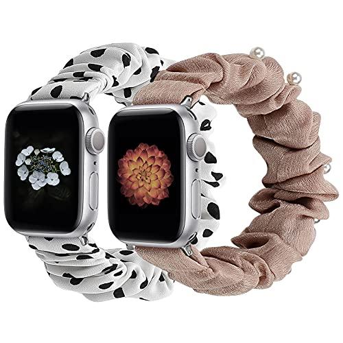 Supore iWatch Correas Solo Loop Compatible con Apple Watch 44mm 42mm 38mm 40mm, Pulseras de Repuesto de Nylon Correa para iWatch Series 6 5 4 3 2 1 / Apple Watch SE, Mujer y Hombre