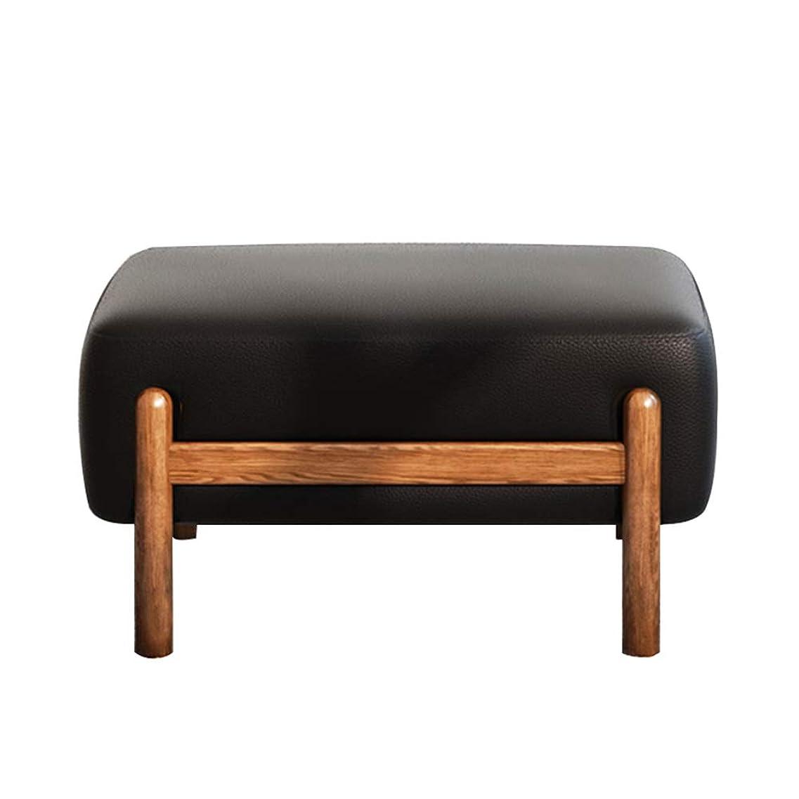 パケットクリーム正確なHong Tai Yang ソファのスツール - シンプルなクリエイティブな木製のスツール、快適な革のソファのベンチ */ (色 : A)