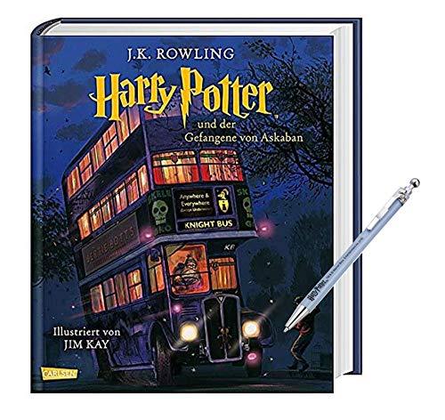 Carlsen Verlag Harry Potter und der Gefangene von Askaban (vierfarbig illustrierte Schmuckausgabe) + 1 Harry Potter Kugelschreiber (sortierte Motive)