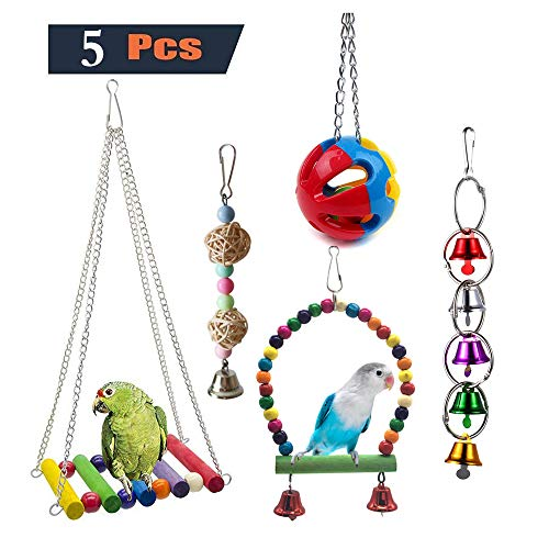 Bird Toy Hanging Swing Chopped Perch Parrot Toy Caged Parrot Parrot Small Parrot Small Parrot Parrot Macaw Finch Starling's Parrot
