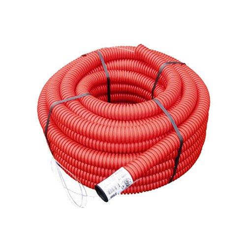 Gaine TPC Rouge Ø 40 mm x 50 mètres Pour Electricité EDF