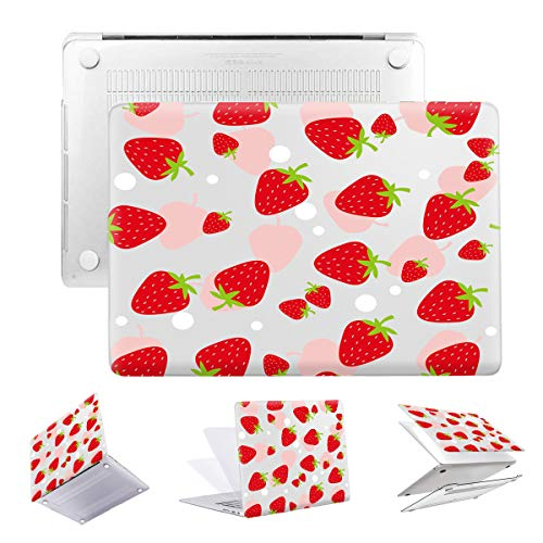 MacBook Air 13 Touch ID 2018 Release A1932 PapyHall Transparent Plastic Shell Case Only Compatible Newest Version MacBook Air 13 inch Retina/Touch ID Model: A1932 Red Strawberry