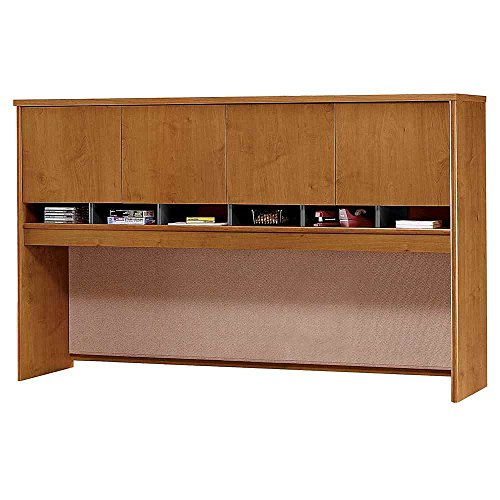 """72"""" Four Door Hutch Natural Cherry Finish"""