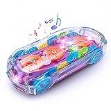 Coche de Juguete con Luces y Música Coche Infantil Transparente Concepto de Engranaje Educativa Regalo Juguetes para Bebe Niños
