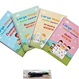 4 Pack Pack Copybook, 2021 Magic CalliGraphy se puede reutilizar la escritura de la escritura de copos de la escritura caligráfica de la escritura de la escritura de la escritura de la práctica