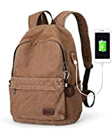 Muzee Canvas Backpack with USB...