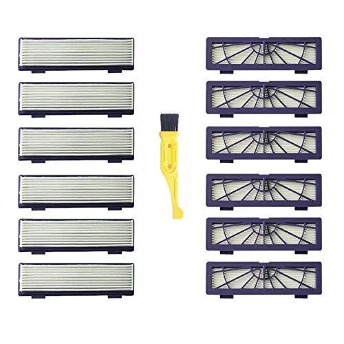 HYY-YY Lot de 13 filtres + brosse de nettoyage pour aspirateur Neato Botvac Robotics 70E 75 80 85 et D